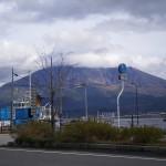 鹿児島市本港新町から見る桜島(2015.03.01)