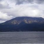 鹿児島市磯海岸から見る桜島(2015.03.01)