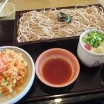 桜えび天ざるを食べる、鹿児島市下福元町「ふく福 七ツ島店」