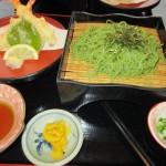 天ぷら盛知覧茶そばを食べる、南九州市知覧町郡、特攻おばさんの店「知覧茶屋」