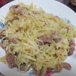 パパイヤと豚肉の炒め物