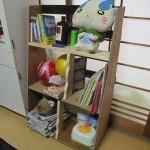 孫のために本棚を作ったよ