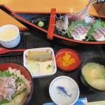 宮崎県日南市南郷町「港の駅 めいつ」で美々鯵御膳を食べる