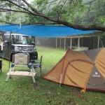 野々湯温泉キャンプ場2017.07.08-09 雨の中のソロキャンプ