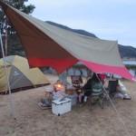 藺牟田池自然公園キャンプ場、2018.01.07-08 雨キャンプ おでんと山太郎蟹鍋
