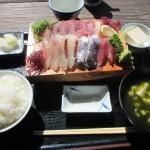 錦江町 「地魚料理 さんぺい」でさんぺい定食を食べる  2018.02.18