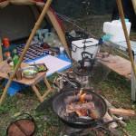 日南市猪崎鼻キャンプ場 2018.04.07-08 ソロキャンプ 干物とごった煮