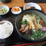 宮崎県日南市「道の駅 酒谷」の棚田そばセットを食す