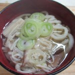 日南市「魚うどん製造えびす」の魚うどんを食べる