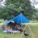 霧島市牧園町「野々湯温泉キャンプ場」2018.06.30-07.01 雨のソロキャンプ 冷やし素麺と焼きそばと