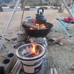 人吉クラフトパーク石野公園キャンプ場、芋煮 2020.02.01-02