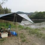 別府川(姶良市)の河川敷でデイキャンプ 2020.04.11
